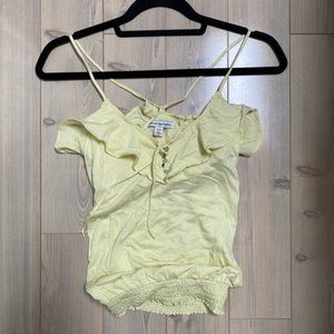 American Eagle Yellow Ruffle Tank